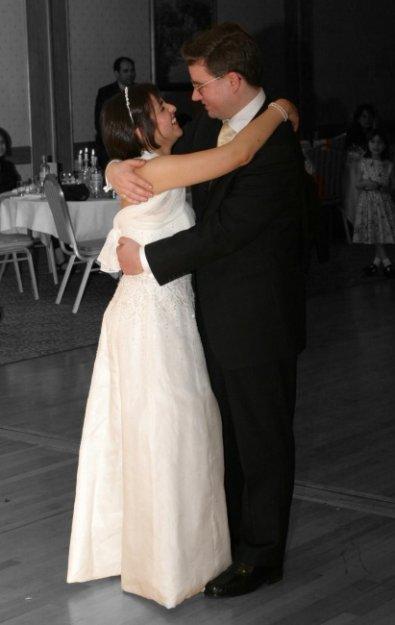 Ladan and James dancing