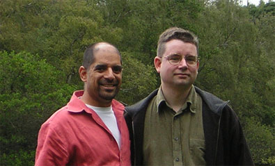 Manoocher and James at Bolam Lake